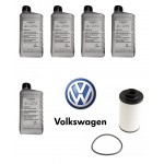 6-Speed DSG Auto Filter Kit With ATF Fluid VW Golf Jetta EOS (G052182A2 / 02E305051C / N91084501)